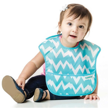 Bumkins Superbib Blue Chevron