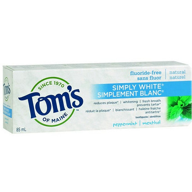 Tom\'s of Maine Simply White Fluoride-Free Plus Toothpaste