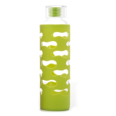 U-Konserve Glass Bottle with Silicone Sleeve in Lime