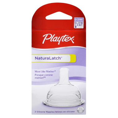 Playtex Slow Flow Natural Latch Silicone Nipples