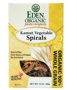 Eden Organic 100% Whole Grain Kamut Vegetable Spiral Pasta