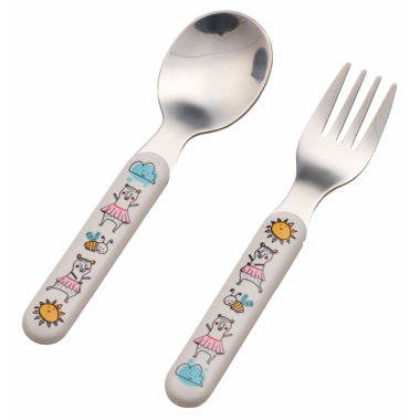 Sugarbooger Silverware Set Clementine the Bear