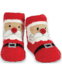 Mud Pie Chenille Santa Socks