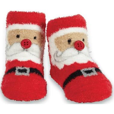 Mud Pie Chenille Santa Socks