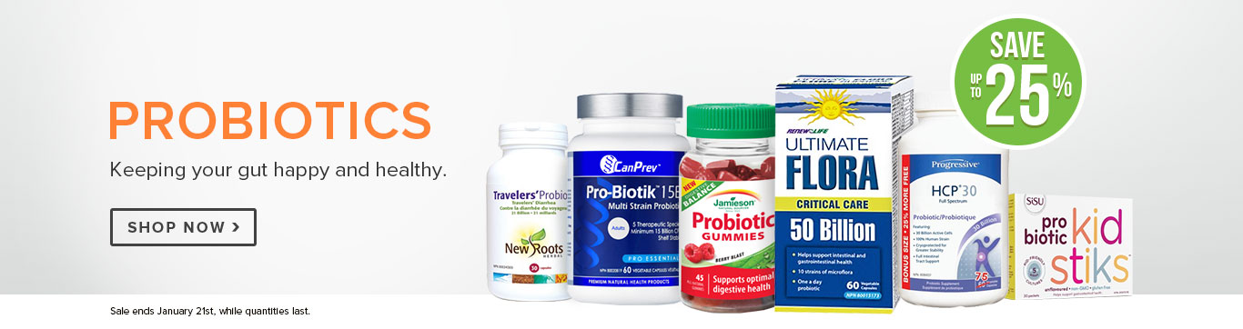 Save up to 25% on Probiotics