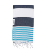 Lualoha Turkish Towel Striped Goodness Navy & Blue