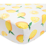 Little Unicorn Brushed Crib Sheet Lemon