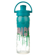 Lifefactory Splash Glass Bottle with Active Flip Cap & Silicone Sleeve