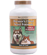 Naturvet Brewer's Dried Yeast Formula Tablets Garlic