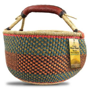 Alaffia Round Handwoven African Grass Basket