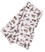 Little Unicorn Cotton Muslin Swaddle Blanket Ground Control