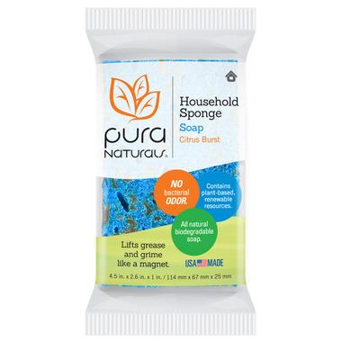Pura Naturals Household Soap-Infused Sponge Citrus Burst