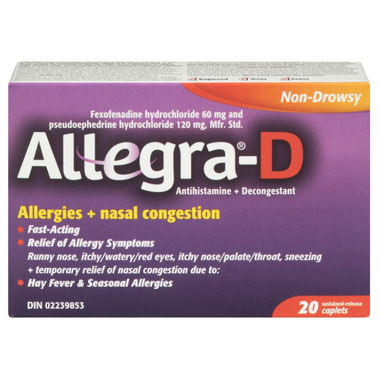 Allegra-D Allergies + Nasal Congestion