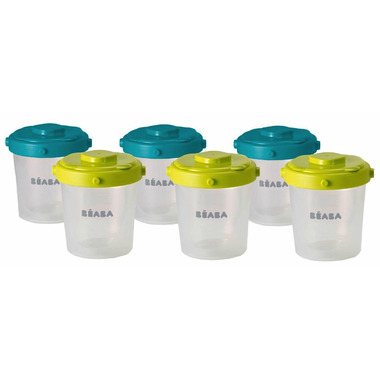 Beaba Clip Containers 7oz Peacock