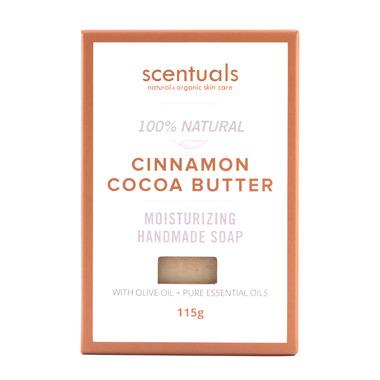Scentuals 100% Handmade Natural Soap Cinnamon & Cocoa Butter