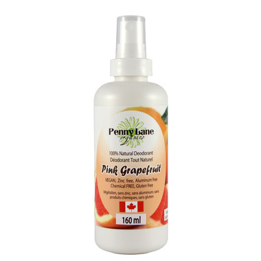 Penny Lane Organics Natural Spray Deodorant Pink Grapefruit