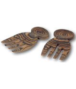 Island Bamboo Black Paka Wood Salad Hands