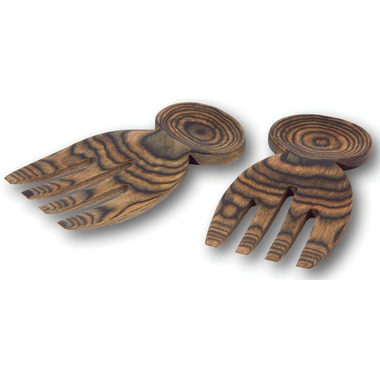 Island Bamboo Black Paka Wood Salad Hands