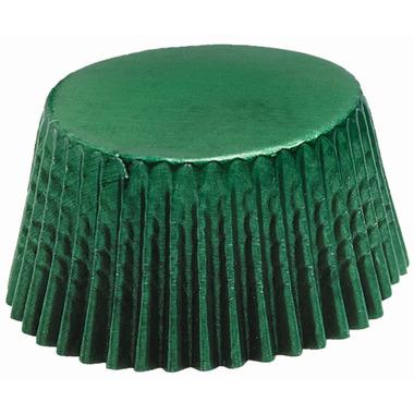 Green Foil Mini Bake Cups