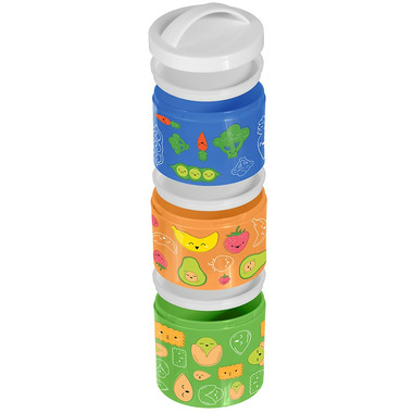 Russbe Triple Stack Kids Snack Bento Box with Handle