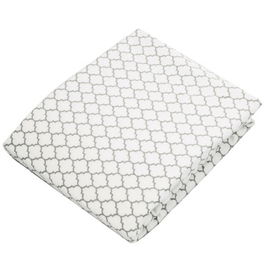 Kushies Flannel Fitted Crib Sheet Ornament Grey