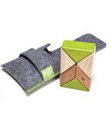 Tegu Pocket Pouch Prism Magnetic Wooden Block Set - Jungle