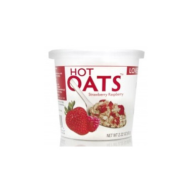 Love Grown Foods Hot Oats Strawberry Raspberry