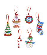 Melissa & Doug Mess- Free Glitter Christmas Ornaments