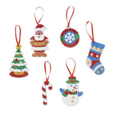 Melissa & Doug Mess- Free Glitter Christmas Ornaments