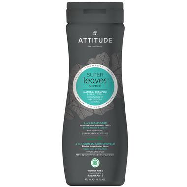 ATTITUDE Super Leaves Natural 2-in-1 Scalp Care Shampoo & Body Wash For Men