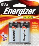 Energizer Max 9 Volt Batteries