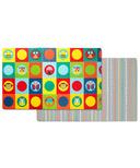 Skip Hop Double Play Reversible Playmat Zoo & Multi Dot