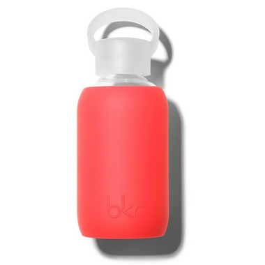 bkr Madly Glass Water Bottle Sheer Fiery Red
