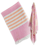 Lulujo Turkish Towel Classic Passion Pink & Apricot