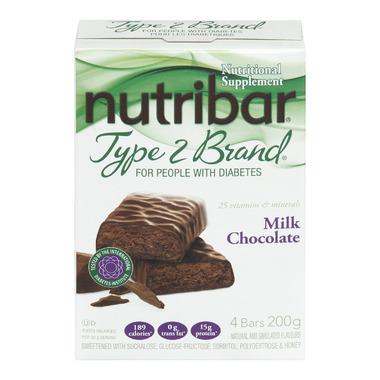 Nutribar Type 2 Brand Milk Chocolate Bars