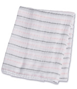 Lulujo Baby Muslin Cotton Swaddling Blanket Pink Messy Stripe