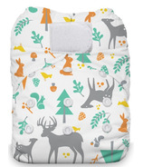 Thirsties Natural One Size All In One Hook & Loop Woodland