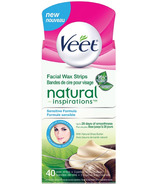 Veet Natural Inspirations Precision Facial Hair Removal Wax Strips