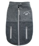 Canada Pooch Rocky Ridge Back-Zip Vest in Grey Melange Size 12