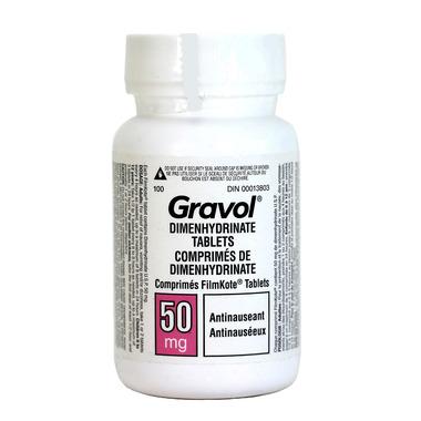 Gravol Dimenhydrinate Tablets