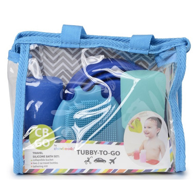 Chewbeads Tubby To Go Bath Set Turquoise