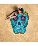 Bigmouth Sugar Skull Beach Blanket