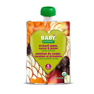 Baby Gourmet Orchard Apple, Carrot and Prune Baby Food Case