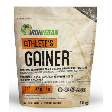IronVegan Athlete\'s Gainer Protein Natural Vanilla