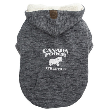 Canada Pooch Cozy Caribou Hoodie in Marled Grey Size 22