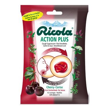 Ricola Action Plus Cherry Lozenges