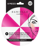 Danielle Delux Wedge Cosmetic Sponges 8 Pack Pink & White