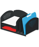 Safco Combination Rack With Vertical Compartment and Trays