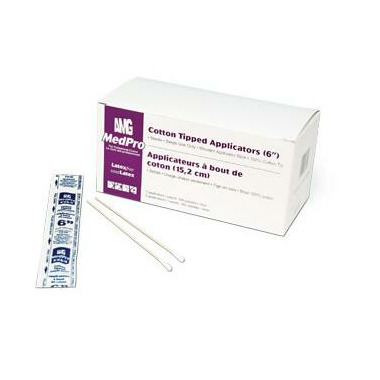 MedPro Cotton Tipped Applicators - 6 Inches