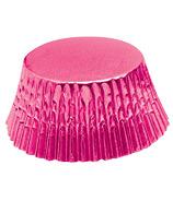 Hot Pink Foil Bake Cups